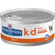 Hill's Prescription Diet Feline k/d Finhakket våtfôr 24 x 156g