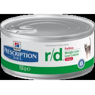 Hill's Prescription Diet Feline r/d™ Finhakket våtfôr 24 x 156g