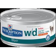 Hill's Prescription Diet Feline w/d Finhakket våtfôr 24 x 156g