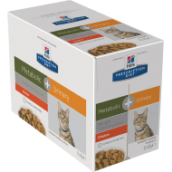 Hill's Prescription Diet Feline Metabolic + Urinary with Chicken våtfôr 12 x 85g