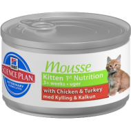 Hill's Science Plan Feline Kitten Mousse with Chicken & Turkey 24 x 85g