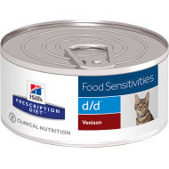 Hill's Prescription Diet Feline d/d Venison/Green Peas våtfôr 24 x 156g