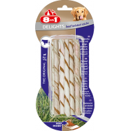 8in1 Delights Beef Twisted Sticks XS 1 pakke