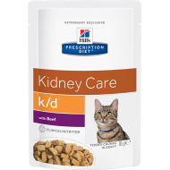 Hill's Prescription Diet Feline k/d Beef våtfôr 12 x 85g
