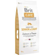 Brit Care Dog Grain-Free Senior & Light Salmon & Potato 12 kg