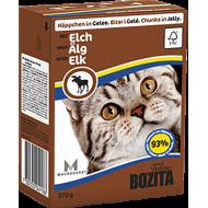 Bozita Cat Kylling & Elg i Gelè 16 x 370 g