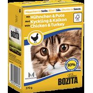 Bozita Cat Kylling & Kalkun i Saus 16 x 370 g