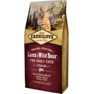 Carnilove Lamb og Wild Boar for Adult Cats Sterilised