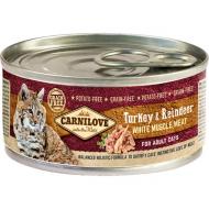 Carnilove Cat Kalkun & Reinsdyr Adult 6 x 100g