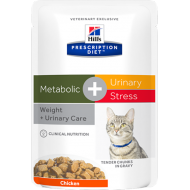 Hill's Prescription Diet Feline Metabolic + Urinary Stress våtfôr 12 x 85g