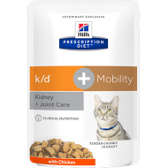 Hill's Prescription Diet Feline k/d + Mobility with Chicken våtfôr 12 x 85g