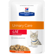 Hill's Prescription Diet Feline c/d Urinary Stress Chicken våtfôr 12 x 85g