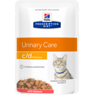 Hill's Prescription Diet Feline c/d Salmon våtfôr 12 x 85g