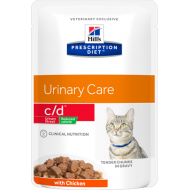 Hill's Prescription Diet Feline c/d Stress Reduced Calorie våtfôr 12 x 85g