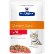 Hill's Prescription Diet Feline c/d Urinary Stress Salmon våtfôr 12 x 85g