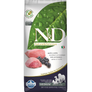 Farmina N&D Dog Grain-Free Lamb & Blueberry Adult Medium 12 kg