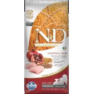 Farmina N&D Dog Low Grain Chicken & Pomegranate Puppy Medium 12 kg