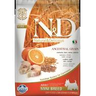 Farmina N&D Dog Low Grain Codfish & Orange Adult Mini 7 kg