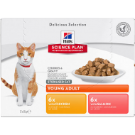 Hill's Science Plan Feline Sterilised Cat Favourite Selection 12 x 85g