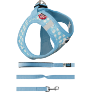 Curli Puppy Set Hundesele Y-sele Blue Dots