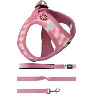 Curli Puppy Set Hundesele Y-sele Pink Routes