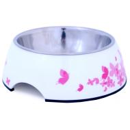 Dogman Hundeskål & Katteskål Hvit/Rosa