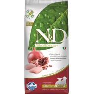 Farmina N&D Dog Grain-Free Chicken & Pomegranate Puppy Min/Med