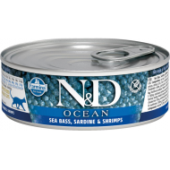Farmina N&D Cat Ocean Seabass, Sardine & Shrimps 12x80 g