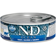 Farmina N&D Cat Ocean Trout Salmon & Shrimps 12x80 g