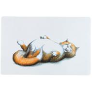Trixie Thick Cat Print Skålunderlag 44x28 cm