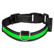 Eyenimal USB-Ladbar Halsbånd med LED-Lys Grønn