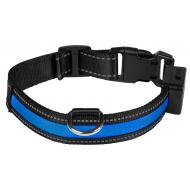Eyenimal USB-Ladbar Halsbånd med LED-Lys Blå
