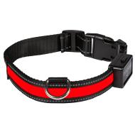 Eyenimal USB-Ladbar Halsbånd med LED-Lys Rød