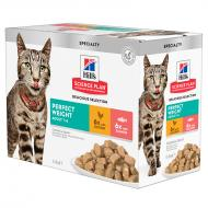 Hill's Science Plan Cat Adult Perfect Weight våtfôr 12 x 85g