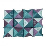 Trixie Patchwork Hundeteppe Turkis/Lilla