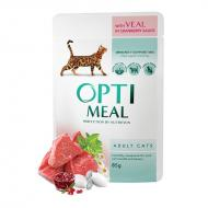 OPTIMEAL Cat Adult & Senior Veal & Cranberry in Gravy