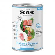 Dibaq Sense Dog Turkey & Salmon All Breeds våtfôr