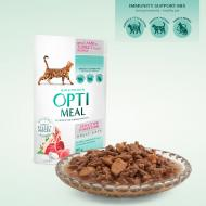 OPTIMEAL Cat Adult Grain Free Sensitive Digestion Lamb & Turkey Fillet in Sauce