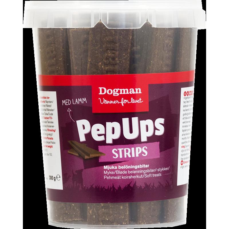 Dogman Pep Ups Strips Lam 300 g