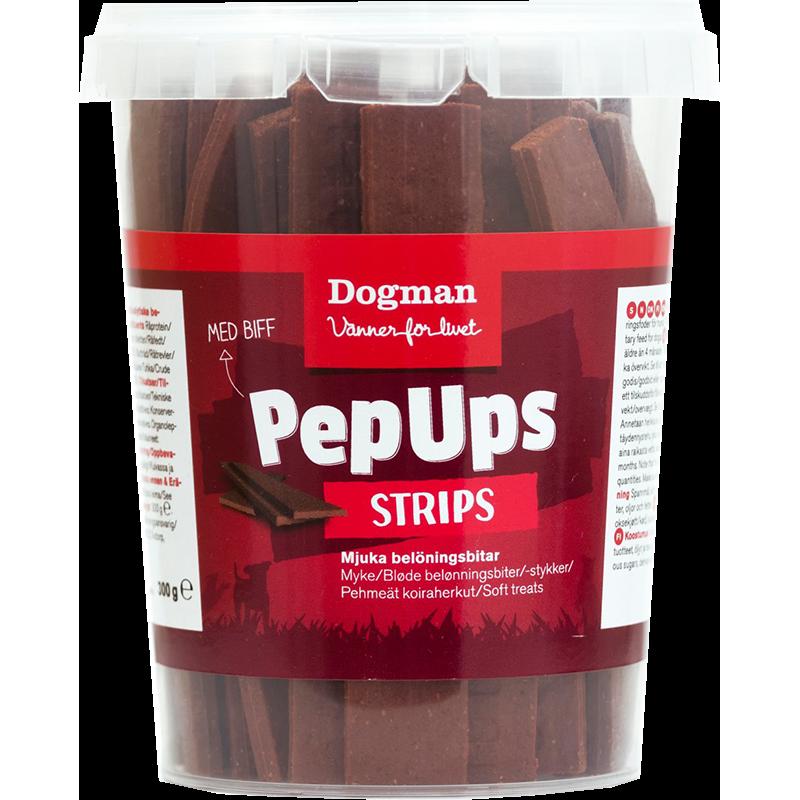 Dogman Pep Ups Strips Biff 300 g