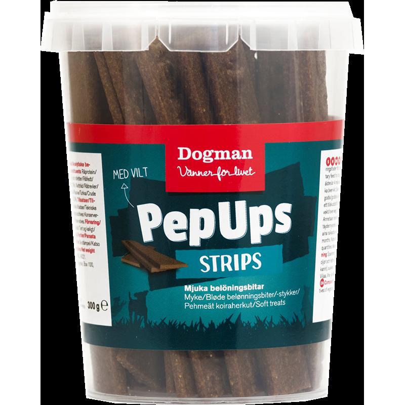 Dogman Pep Ups Strips Vilt 300 g