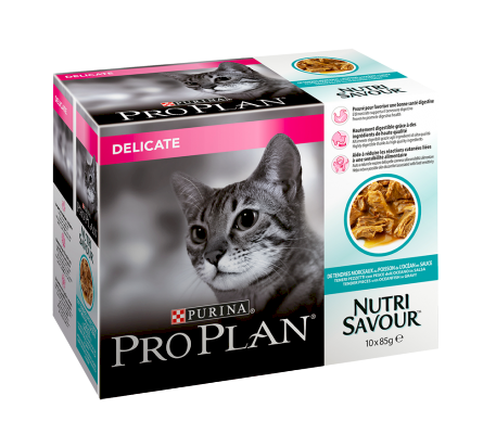 Purina Pro Plan Cat Delicate Ocean Fish i Saus Multipack