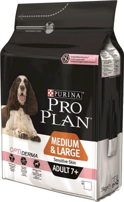 Purina Pro Plan Adult 7+ Medium & Large Sensitive Skin OPTIDERMA