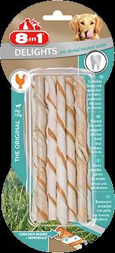 8in1 Delights Pro Dent Twisted Sticks 1 pakke