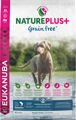 Eukanuba NaturePlus Grain Free Puppy & Junior rich in freshly frozen Salmon