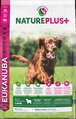 Eukanuba NaturePlus Puppy & Junior rich in freshly frozen Lamb 10 kg