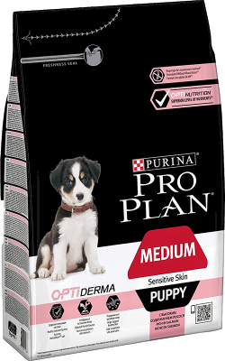 Purina Pro Plan Puppy Medium Sensitive Skin OPTIDERMA 12 kg