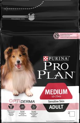 Purina Pro Plan Adult Medium Sensitive Skin OPTIDERMA 14 kg