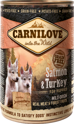 Carnilove Dog Salmon & Turkey for Puppies Canned 6 x 400g