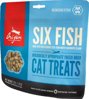 Orijen Cat Treats Six Fish